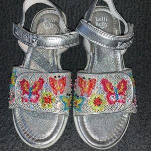 Lelli Kelly Silver Sparkle Butterfly Sandals